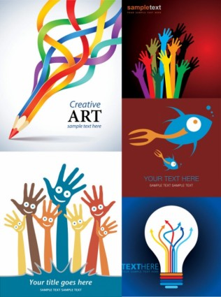 Creative design posters vector free Vector (Free Download)