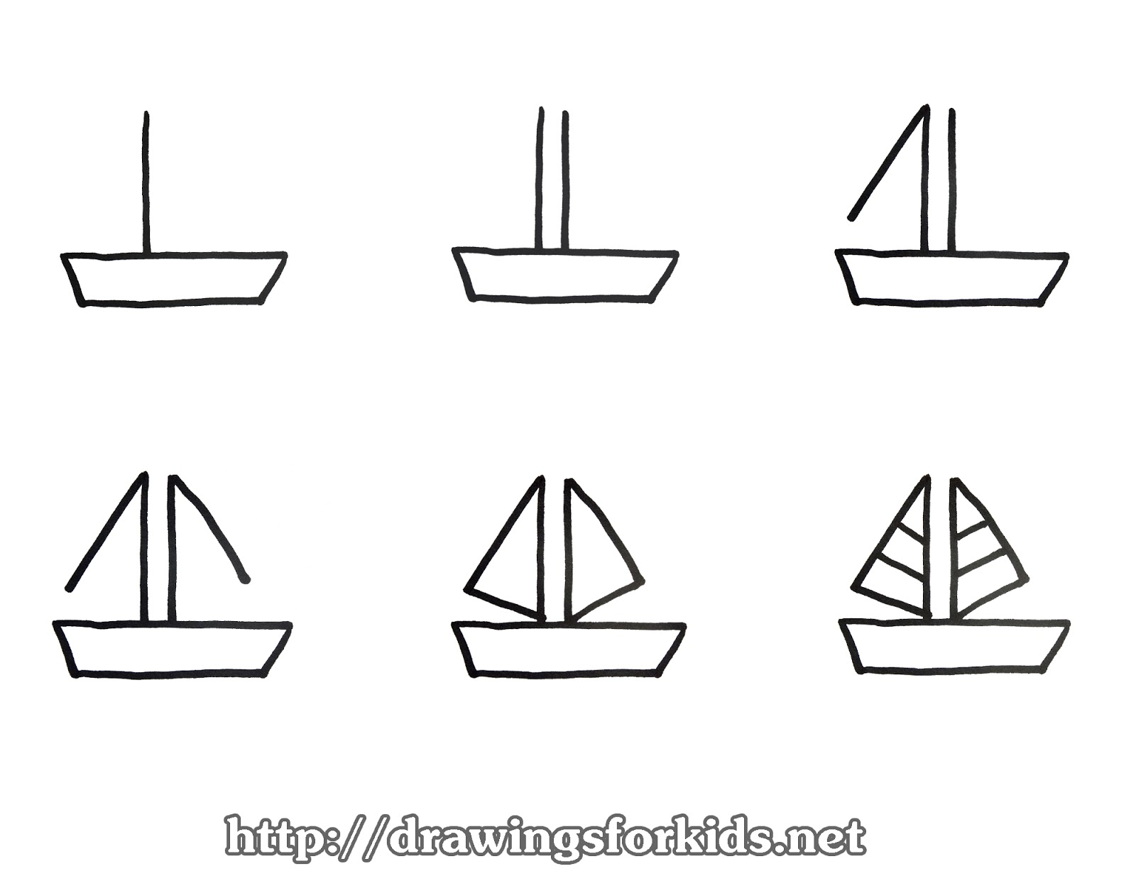 how to draw a boat for kids drawingsforkids net