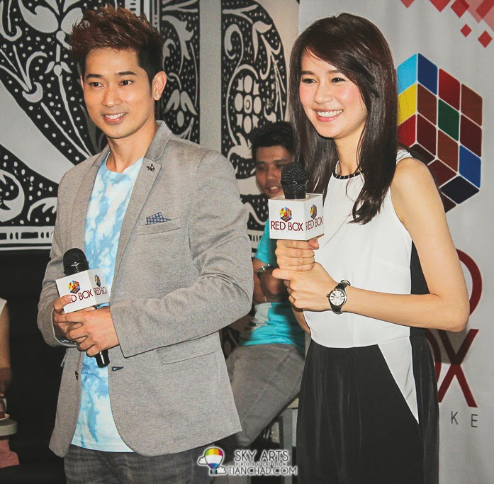 Aric Ho and Priscilla Wong at the QnA Session in RedBox, Sunway Pyramid