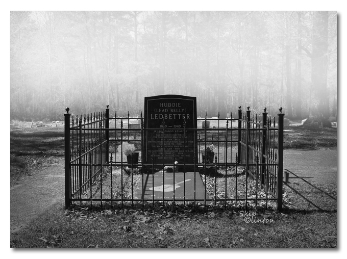 Copyrighted photo of Lead Belly's grave by Skip Clinton