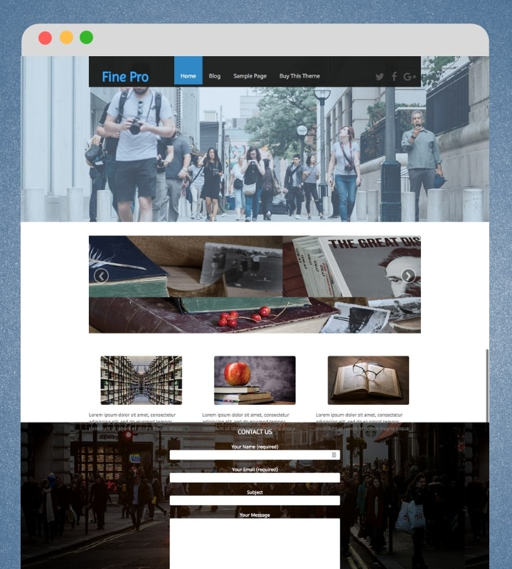 Fine Pro (Modern WordPress Blog / Magazine Theme)