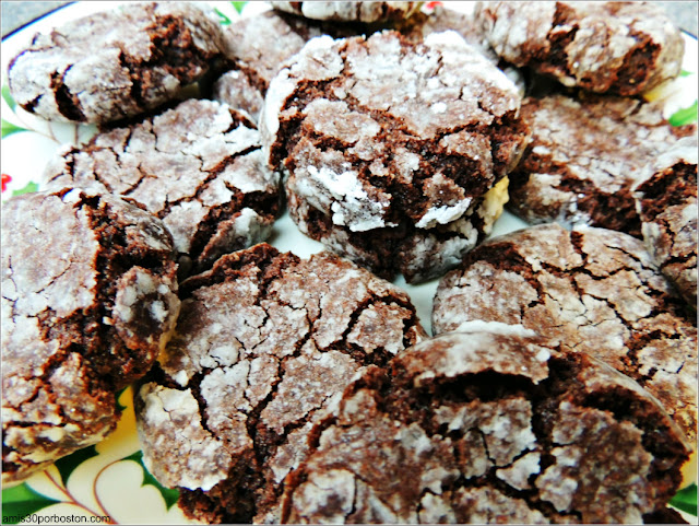 Galletas Crinkles de Chocolate y Coco