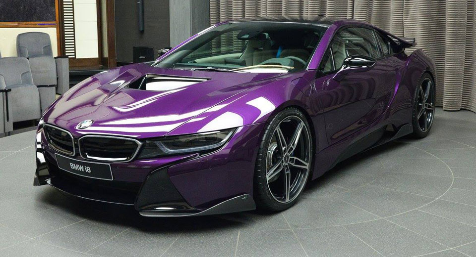 Bespoke Twilight Purple Bmw I8 Created By Abu Dhabi Dealer