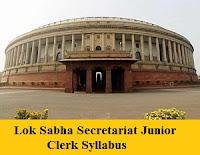 Lok Sabha Secretariat Junior Clerk Syllabus