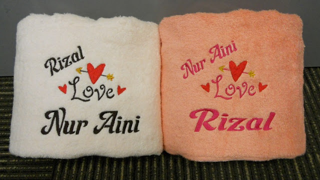 Personalized Towel with name embroidery