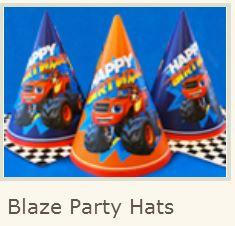 Blaze: Free Printable Hats.