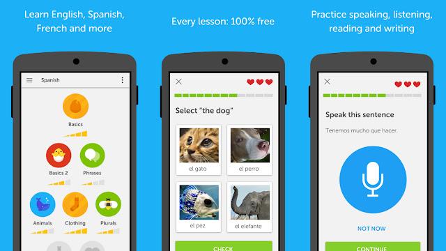 أفضل تطبيقات تعلم اللغة الإنجليزية هو: دولينجو (Duolingo)