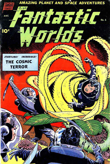 Fantastic Worlds #6 golden age science fiction comic book cover art by Alex Toth