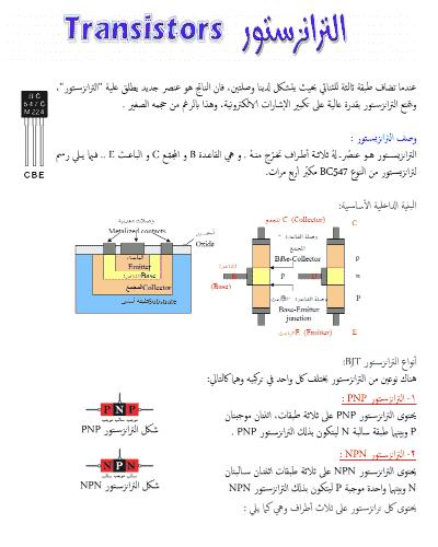 انواع الترانزستور واستخداماته pdf