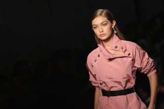 Gigi Hadid at Bottega Veneta's spring 2017 show during Milan Fashion Week. Photo: Vittorio Zunino Celotto/Getty Images