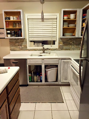 Our Piece Of Split House How To Paint Kitchen Cabinets