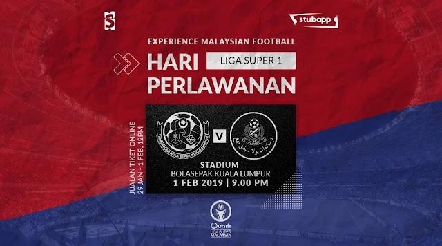 Live Streaming Kuala Lumpur vs Pahang Liga Super 1.2.2019