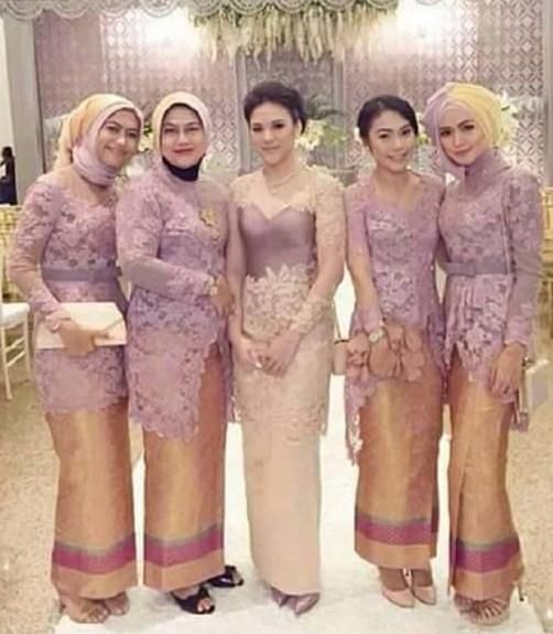 Aneka Baju Muslim Kebaya Modern Kombinasi Brokat untuk Pakaian Seragam ...