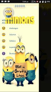 Download BBM MOD MINIONS 2.12.0.9 APK Terbaru 2016 Gratis
