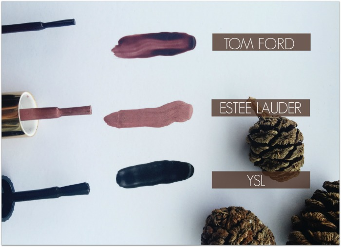 Swatches of favourite nail polish colours for autumn / fall from Irish beauty blog Fluff and Fripperies