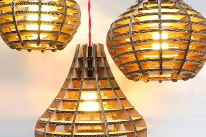 17+ Cara Membuat Lampu Hias Dari Kardus