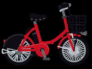 シェア自転車のイラスト(赤)