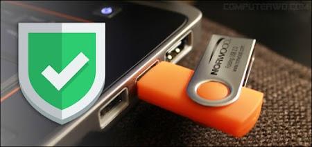 حماية الحاسوب من الفيروسات الموجودة في الفلاش عند استخدامه