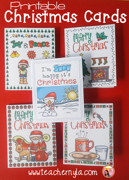 Printable Christmas Cards in color