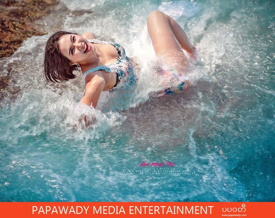 Aye Myat Thu IMAGE Fashon Magazine Cover Phootshoot At The Beach