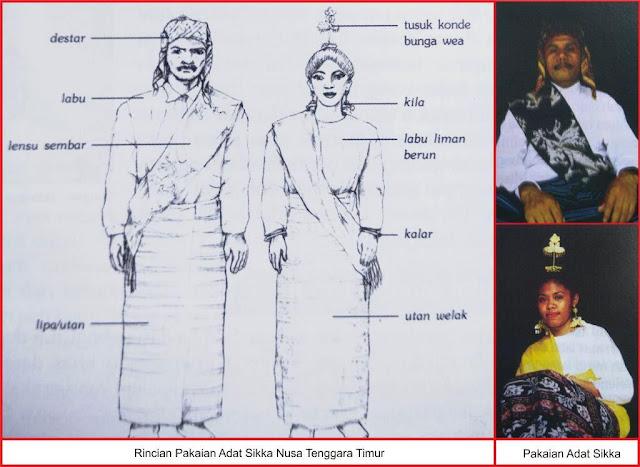 gambar busana adat suku sikka Nusa Tenggara Timur