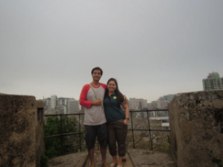 A picture on top of the wall at Fortaleza do Monte in Macau