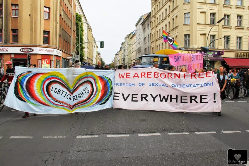 demo against homophobia