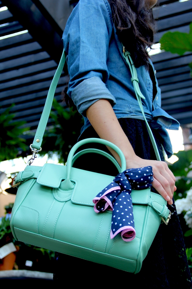 Zink Collection Boxcar Mini Vegan Bag In Mint Green