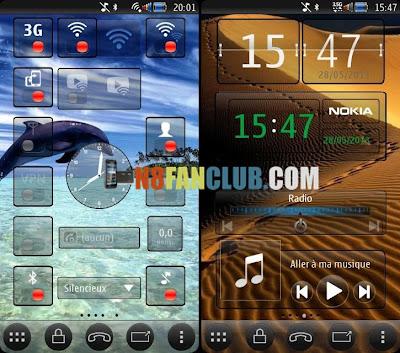 Framed Square Glass Widgets & Toggles Skin for Nokia N8 & Belle
