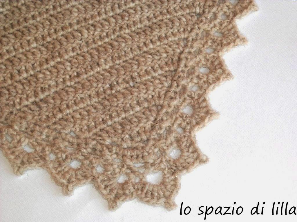 Lo Spazio Di Lilla Bordo Crochet Con Schema E Fiore Spillone