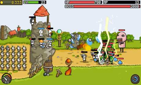 Game Strategi Offline & Online Android Grow Castle MOD APK