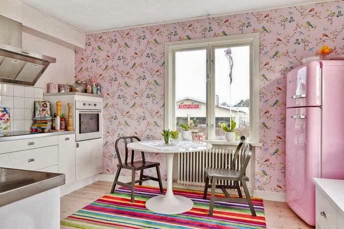 papel pintado en la cocina si