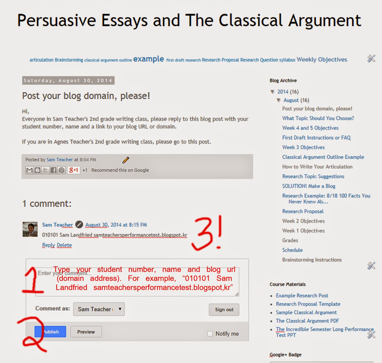Persuasive Essays And The Classical Argument Post Your