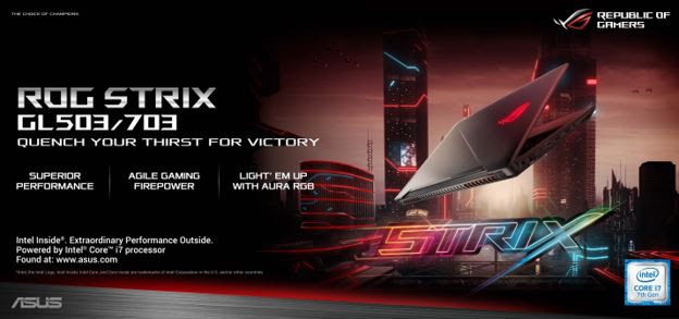 The ROG Strix GL503 and 703