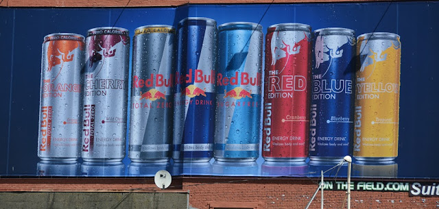 Seattle graffiti Red Bull advertising