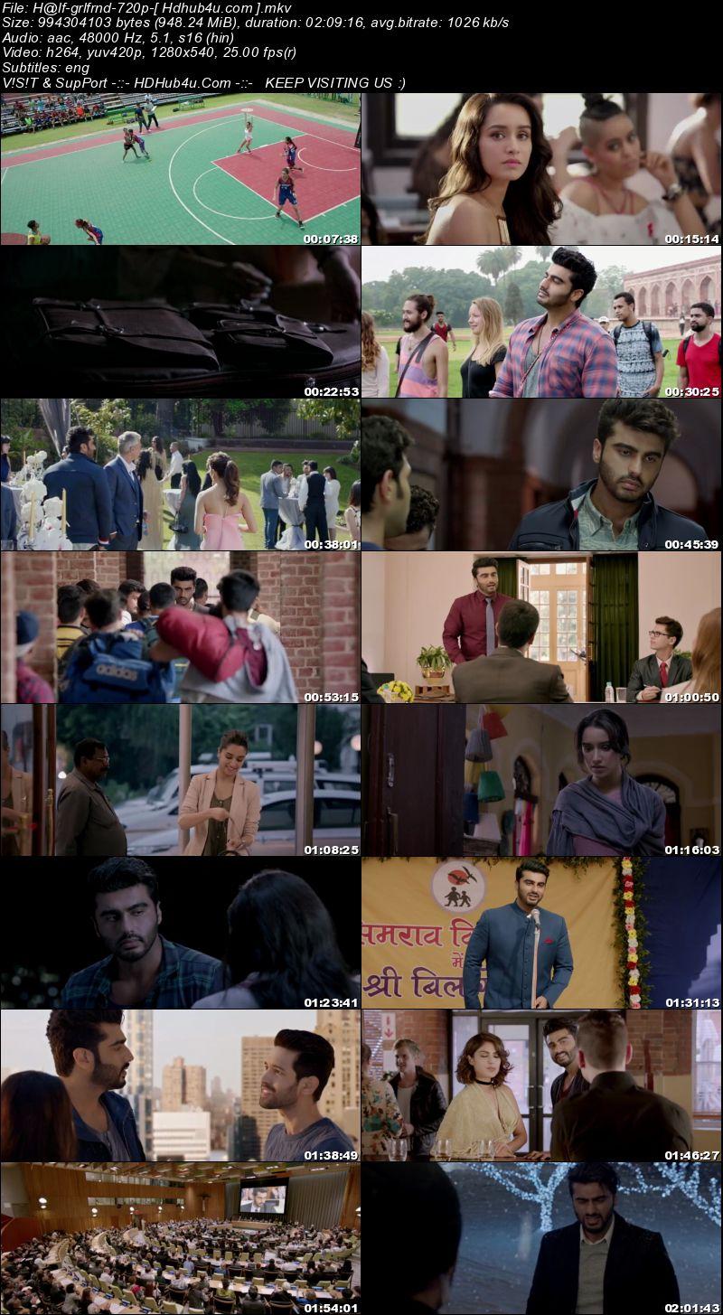Half Girlfriend 2017 Hindi Movie 720p HDRip Esubs 950mb Download