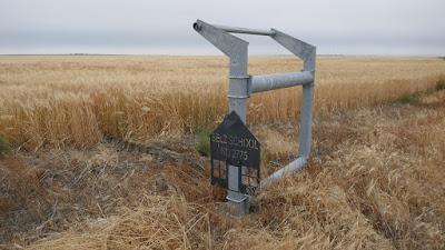 Bow Island, Maleb, school, sign, Alberta, Conquerville