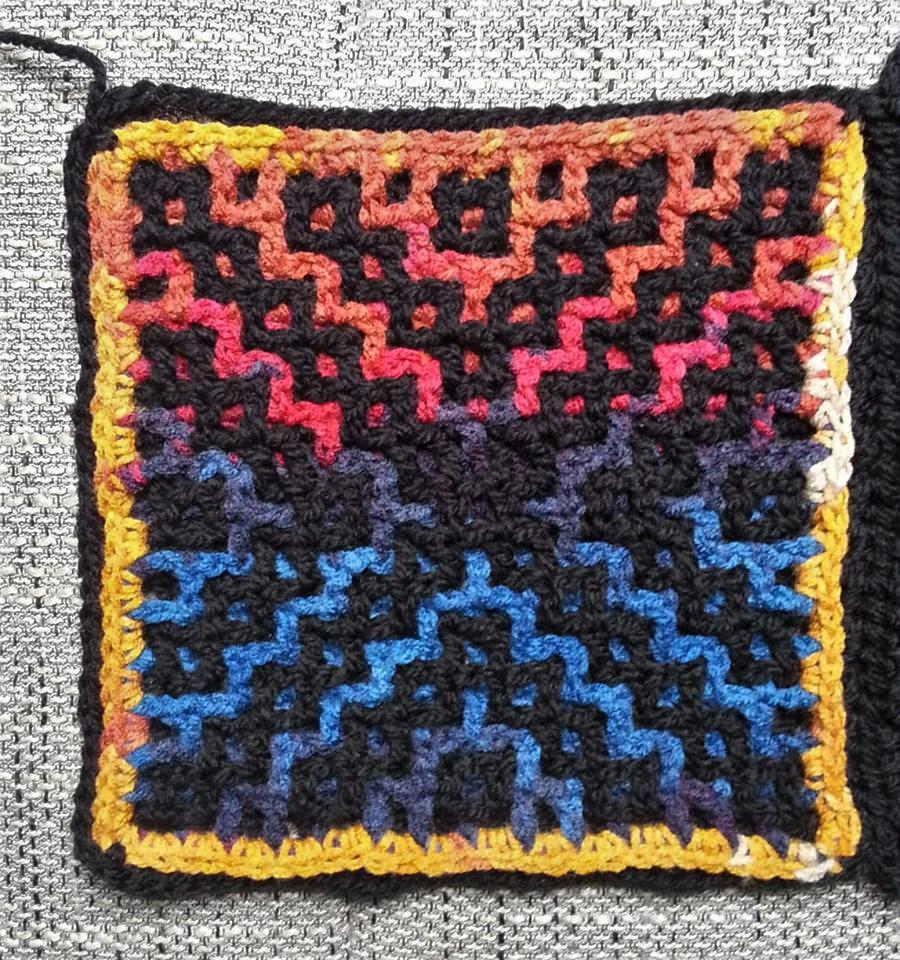 Häkelfieber Austria Wacky Weave Babette Cal Block 2