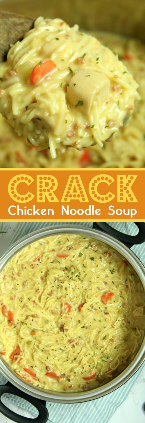 Crack Chicken Noodle Soup #crack #chicken #chickenrecipes #noodle #soup #souprecipes #dinnerideas #dinnerrecipes