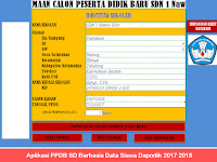 Aplikasi PPDB SD Berbasis Data Siswa Dapodik 2017 2018