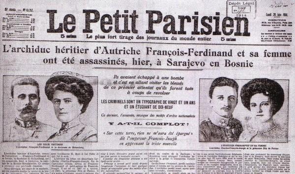 L'Attentat de Sarajevo du 29 juin 1914