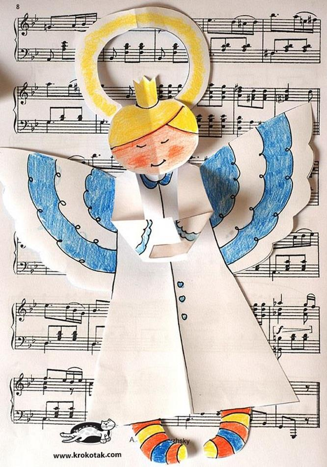Papermau Christmas Time Decorative Paper Angels For Kids