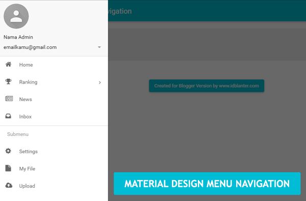 Membuat Material Design Menu Navigation di Blog