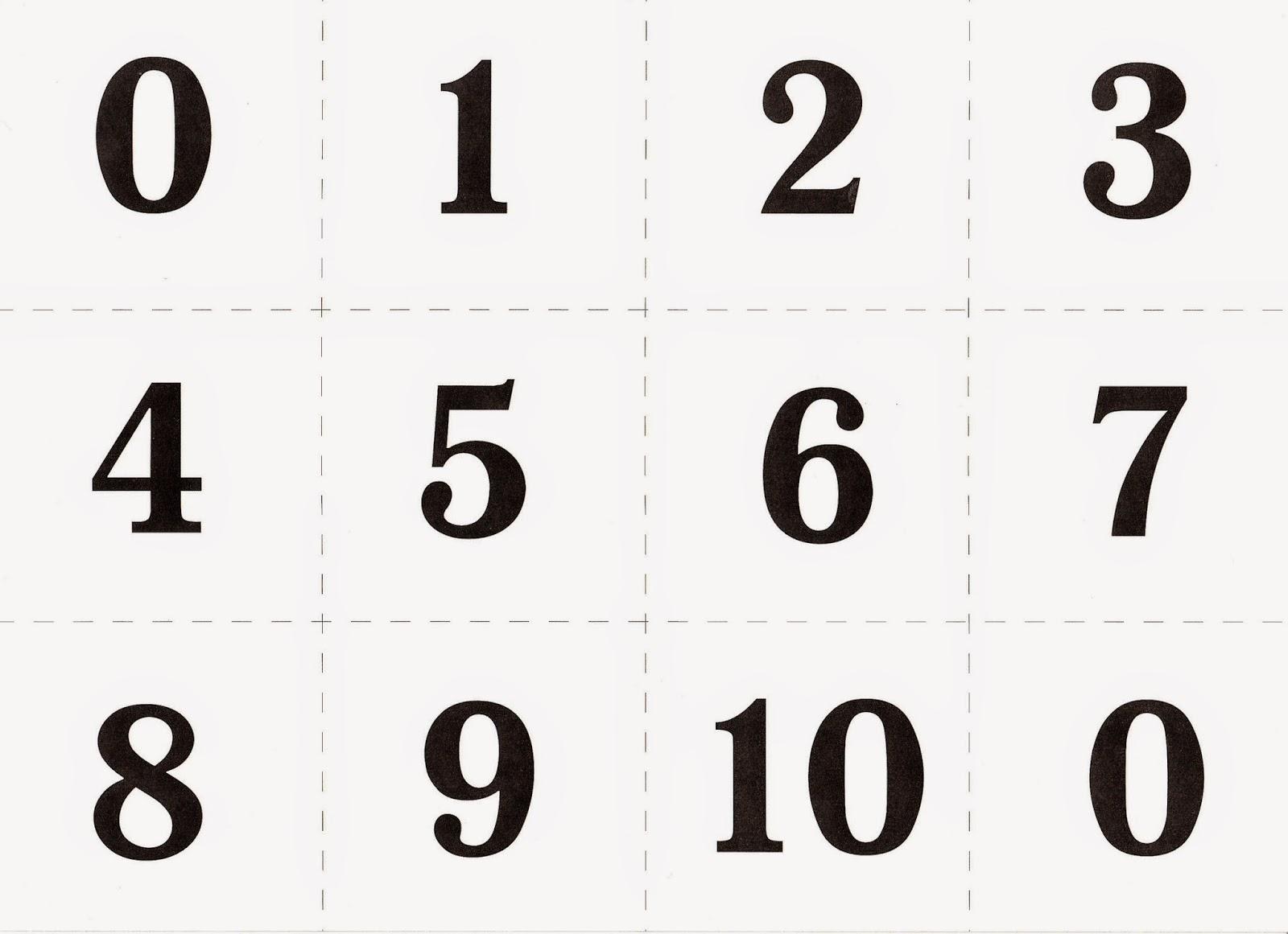 знакомство с цифрами от 0 до 9