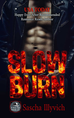 win Slow Burn by Sascha Illyvich spy thriller paranormal romance