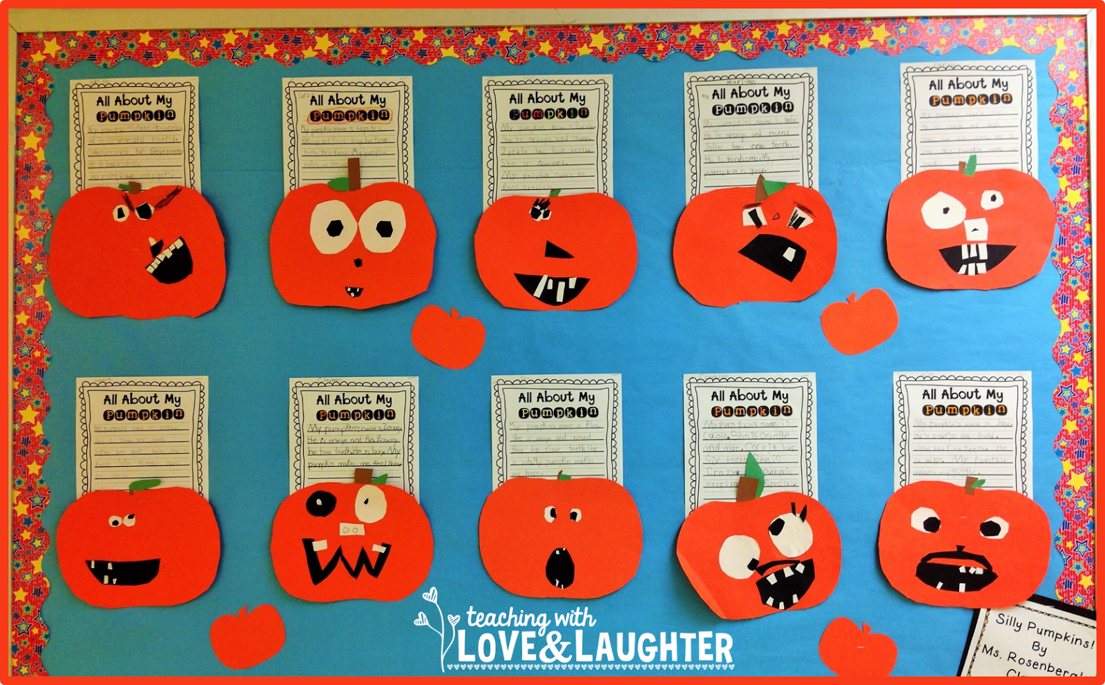 Teaching With Love And Laughter Pumpkin Writing Bulletin
