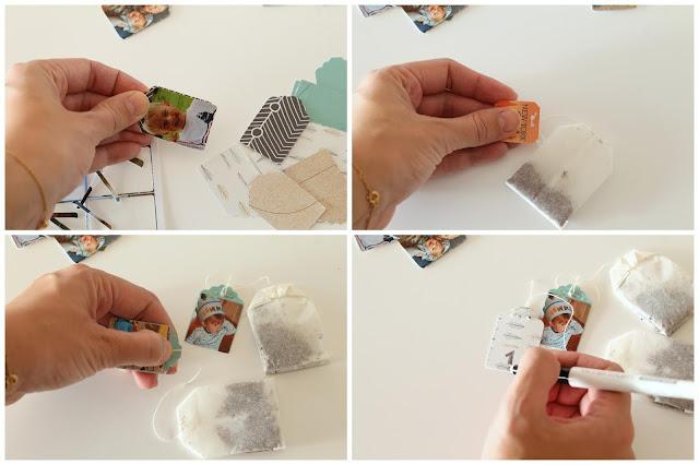 Anleitung 2 DIY Tee-Adventskalender mit Fotos aus dem Jahr Jules kleines Freudenhaus