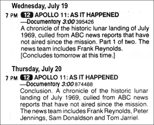 Over The Years Since 1972 PBS And Other Networks Have Presented Many Space Race Related Documentary Programs TV Guide Was There To Help Us Find Them
