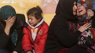 """""""catastrophe"""" humanitaire à Afrine, étouffée par l'offensive turque"""