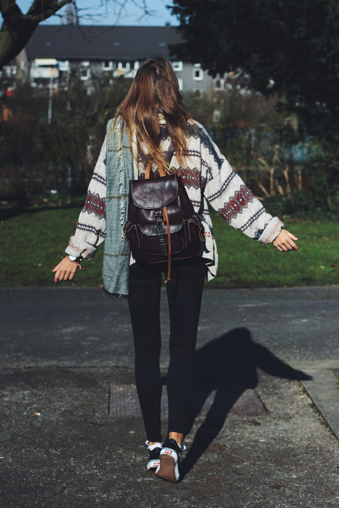willascherrybomb boho cardigan ootd outfit lookbook winter